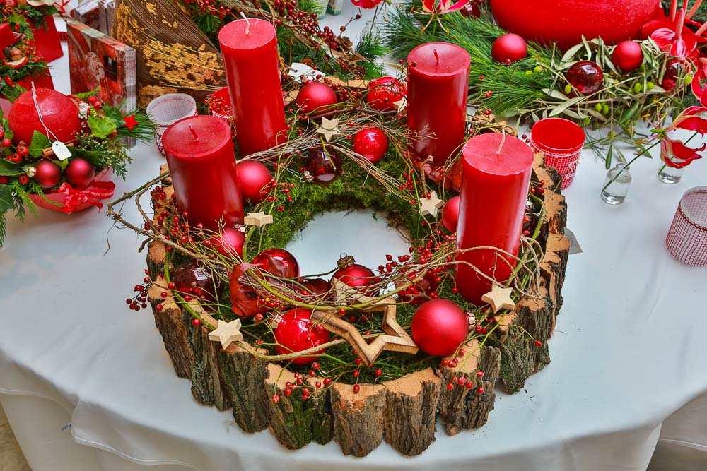 Adventsausstellung weihnachtsausstellung floristik 2015 for Weihnachtstrends 2016 floristik